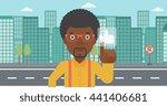an african american man...   Shutterstock .eps vector #441406681