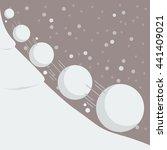 Snowball Effect. Vector...