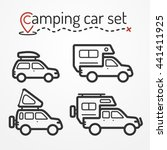 set of camping car icons.... | Shutterstock .eps vector #441411925