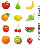 fruits icons | Shutterstock . vector #44141350