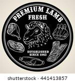 premium lamb or fresh meat... | Shutterstock .eps vector #441413857