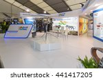 Small photo of BERLIN, GERMANY - JUNE 01, 2016: The stand of Hindustan Aeronautics Ltd. Model of utility helicopter HAL Dhruv. Exhibition ILA Berlin Air Show 2016.