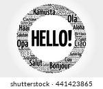 hello word cloud in different... | Shutterstock .eps vector #441423865