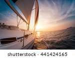 Постер, плакат: Sail boat with set