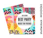party invitation card with...   Shutterstock .eps vector #441424261