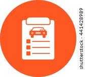 car items checklist | Shutterstock .eps vector #441428989