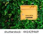 graffiti brick wall  colorful... | Shutterstock . vector #441429469