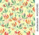 seamless floral pattern | Shutterstock . vector #441432481