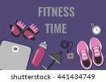 Vector Illustration Of Fitness...