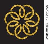 Golden Glittering Logo Symbol...