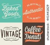vintage typographic labels  ...   Shutterstock .eps vector #441441829