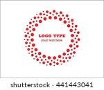 abstract halftone logo design... | Shutterstock .eps vector #441443041