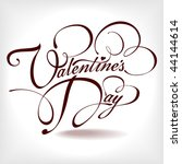 valentine's day type text | Shutterstock .eps vector #44144614