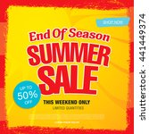 summer sale. vector template... | Shutterstock .eps vector #441449374