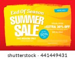 summer sale. vector template... | Shutterstock .eps vector #441449431