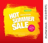 summer sale. vector template... | Shutterstock .eps vector #441449491