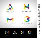 triangle letter logo design.... | Shutterstock .eps vector #441451189