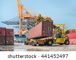 truck transport container on... | Shutterstock . vector #441452497