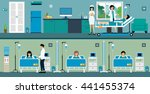 doctor and nurse checking a... | Shutterstock .eps vector #441455374