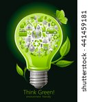 ecological set with green icons ... | Shutterstock .eps vector #441459181