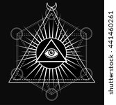 eye of providence. all seeing... | Shutterstock .eps vector #441460261