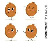 kiwi. cute fruit vector...   Shutterstock .eps vector #441461941