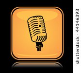 yellow square icon sound mic... | Shutterstock .eps vector #44146393