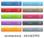 set of email glossy color... | Shutterstock .eps vector #441465595