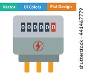 electric meter icon. flat color ... | Shutterstock .eps vector #441467779
