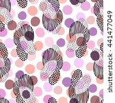 abstract seamless pattern with... | Shutterstock .eps vector #441477049