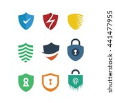 shield protection security logo ...   Shutterstock .eps vector #441477955