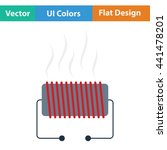 electrical heater icon. flat...