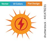 solar energy icon. flat design. ...