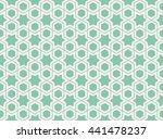 seamless islamic pattern of... | Shutterstock .eps vector #441478237