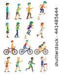sport people set of man and... | Shutterstock . vector #441485644