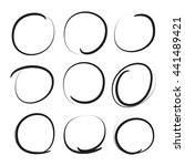 black grunge circle markers | Shutterstock .eps vector #441489421