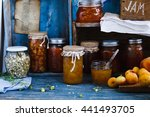 picture of home made jam in... | Shutterstock . vector #441493705