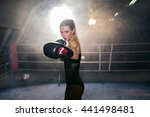 portrait of concentrated woman...   Shutterstock . vector #441498481