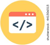 html coding vector icon | Shutterstock .eps vector #441506515