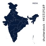 map of india | Shutterstock .eps vector #441519169