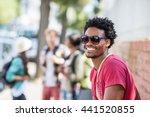 portrait of happy young man in... | Shutterstock . vector #441520855