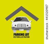 parking lot design  vector... | Shutterstock .eps vector #441520987