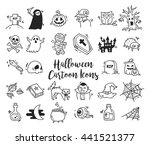 set of cartoon halloween icons | Shutterstock .eps vector #441521377