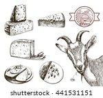 goat breeding. set of sketches... | Shutterstock .eps vector #441531151