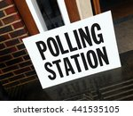 polling station sign london... | Shutterstock . vector #441535105