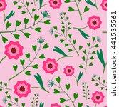 summer floral seamless pattern... | Shutterstock .eps vector #441535561
