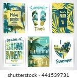 set of summer vacation cards....   Shutterstock .eps vector #441539731