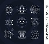 sacred geometry abstract signs... | Shutterstock .eps vector #441550141