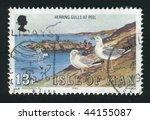 isle of man   circa 1983 ... | Shutterstock . vector #44155087