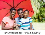 happy family posing together at ... | Shutterstock . vector #441552349